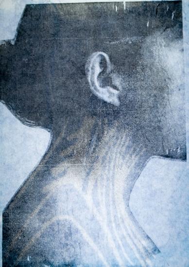 Amalia Hernandez, mixed media cyanotype, 2012